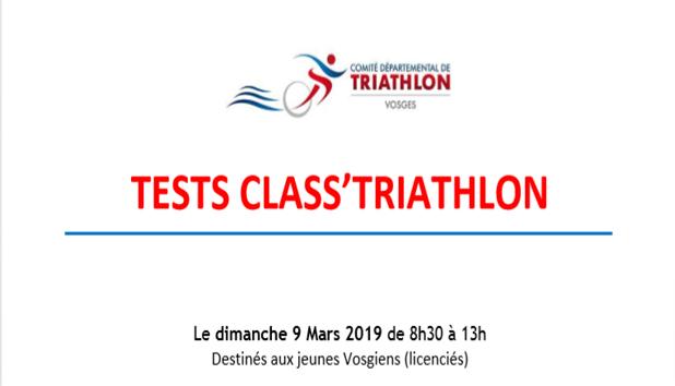 Tests Class'Triathlon